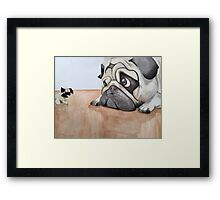 Toy vs The Real Deal  Framed Print