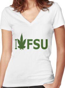 I Love FSU Women's Fitted V-Neck T-Shirt