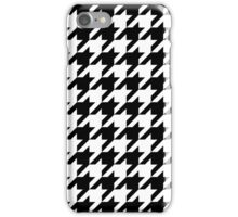 Classic Black and White Houndstooth Pattern iPhone Case/Skin