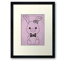 Pig Rabbit (You're Beautiful)  Framed Print