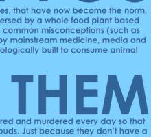 Health/Ethical/Environmental Vegan Sticker Sticker