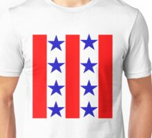 Red, Blue, and White Unisex T-Shirt