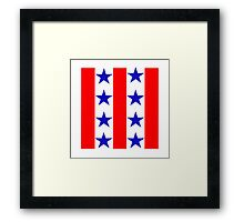 Red, Blue, and White Framed Print