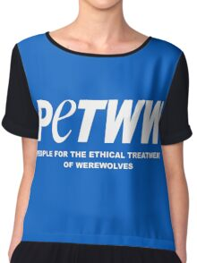 People for the Ethical Treatment of Werewolves Chiffon Top