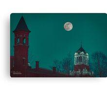 The evening moon  Canvas Print