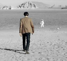 Eleventh Doctor's Last Steps Black and White by Themaninthefez