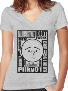 Pilky01 Women's Fitted V-Neck T-Shirt