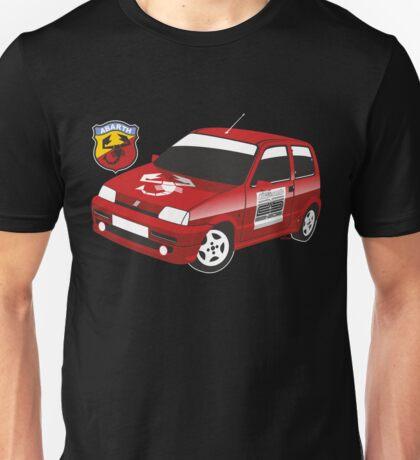 Fiat Cinquecento Abarth red Unisex T-Shirt
