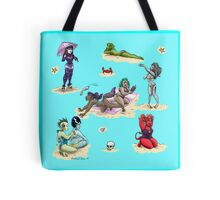 Monster girl beach party Tote Bag