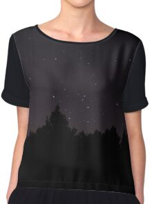 Stars over the forest  Chiffon Top