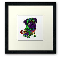 Cool Funny Pug Dog Pop Art Original Framed Print