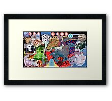 Who Really Killed the Dinosaurus. Framed Print