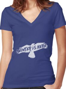 Winter IS Here Women's Fitted V-Neck T-Shirt
