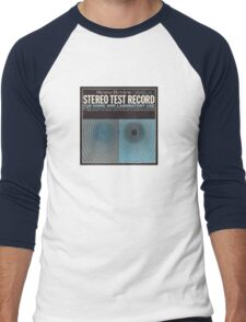 Stereo test vintage record album cover 1965 Men's Baseball ¾ T-Shirt