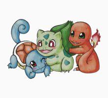 Pokemon Starters by LovelyKouga