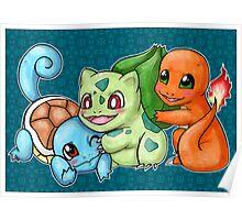 Pokemon Starters Poster