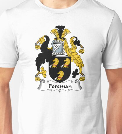 Foreman Coat of Arms / Foreman Family Crest Unisex T-Shirt