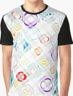 Abstract Raindrop Puddle Plaid Graphic T-Shirt