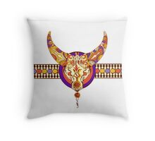 Tribal taurus decorative vector background Throw Pillow