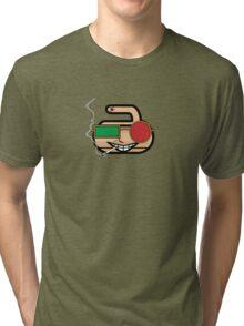 Spider Rocks! - Curling Rockers Tri-blend T-Shirt