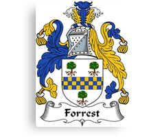 Forrest Coat of Arms / Forrest Family Crest Canvas Print