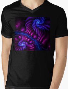 Moonlight Shadow Mens V-Neck T-Shirt