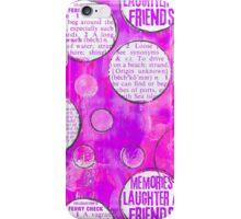 pink circles iPhone Case/Skin