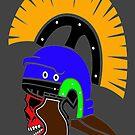 Colourfull Roman Skull by sastrod8