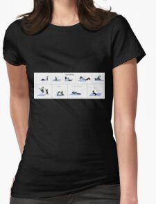 Yoga with dogs Womens Fitted T-Shirt