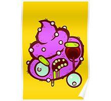 Zombie Alien Poop Poster