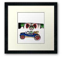 Luigi Death Stare Framed Print