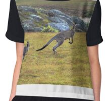 Eastern Grey Kangaroos Chiffon Top