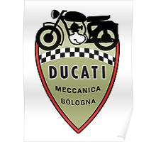 Ducati Vintage Motorcycles Bologna Italy Poster