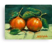 First Mandarins of the Season Canvas Print