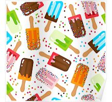 Fruit and chocolate ice cream Poster