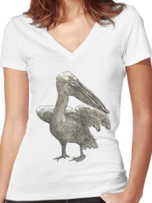 Pelican Women's Fitted V-Neck T-Shirt