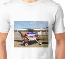 Women fly: high wing aircraft Unisex T-Shirt