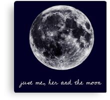 and the moon Canvas Print