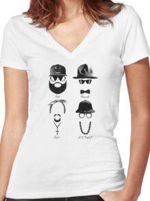 Rick Pharrel Tupac LL Cool J Women's Fitted V-Neck T-Shirt