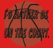 I'd Rather Be on the Court One Piece - Short Sleeve