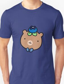 Blueberry Bear Face Unisex T-Shirt