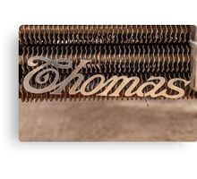 Thomas Name Badge Canvas Print