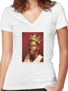 Notorious Michael jordan chicago Women's Fitted V-Neck T-Shirt