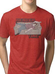 Render Time Tri-blend T-Shirt