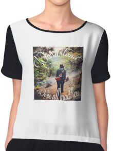 Mad Hatter We're All Mad Here Chiffon Top