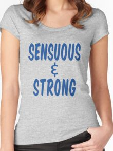 Howlin' Mad Murdock's 'Sensuous & Strong' Women's Fitted Scoop T-Shirt