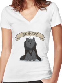 Game of Thrones - Jon Smeow Women's Fitted V-Neck T-Shirt
