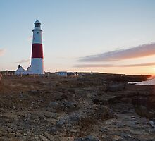 Sunrise at portland Bill by Ian Middleton