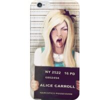 Alice mugshot iPhone Case/Skin