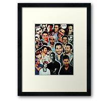 Tyler Hoechlin Collage Framed Print